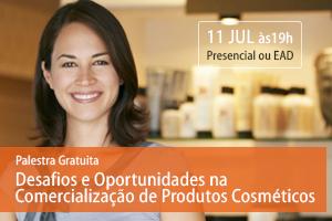 Palestra: Desafios e Oportunidades na Comercialização de Produtos Cosméticos