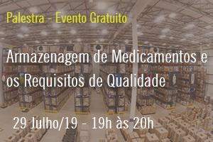Palestra: Armazenagem de Medicamentos: Prestação de Serviço de Acordo com os Requisitos de Qualidade