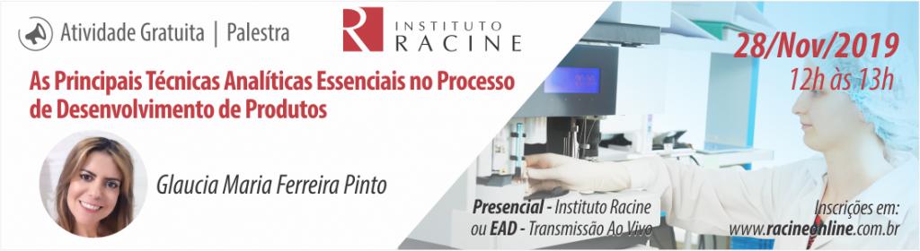 Palestra: As Principais Técnicas Analíticas Essenciais no Processo de Desenvolvimento de Produtos