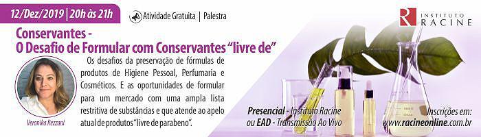 """Palestra: Conservantes – O Desafio de Formular com Conservantes """"livre de"""""""