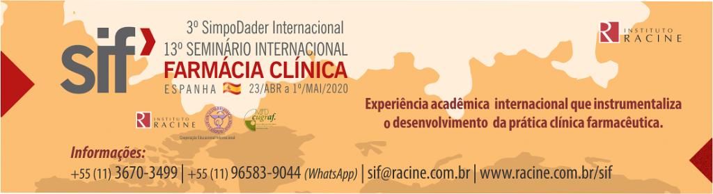 13º Seminário Internacional Farmácia Clínica - SIF 2020