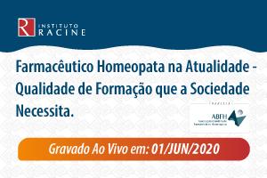 Diálogo: Farmacêutico Homeopata na Atualidade - Qualidade de Formação que a Sociedade Necessita