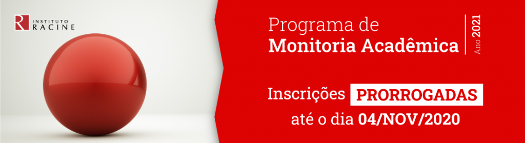 Banner Programa de Monitoria Acadêmica 2021