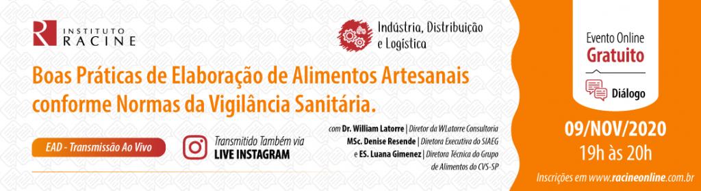 Diálogo: Boas Práticas de Elaboração de Alimentos Artesanais conforme Normas da Vigilância Sanitária.