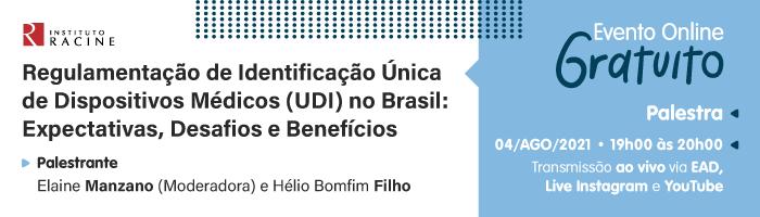 Palestra: Regulamentação de Identificação Única de Dispositivos Médicos (UDI) no Brasil: Expectativas, Desafios e Benefícios